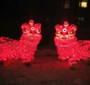 灯光南狮(红色)